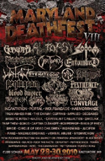 Maryland Death Fest Flyer von der Festivalorganisation