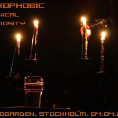 NECROPHOBIC, DEMONICAL, SPAZMOSITY: Tantogården, Stockholm: 04.04.2008