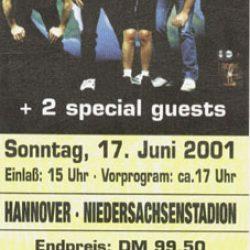 AC/DC, MEGADETH, BRINGS – 17.6.2001 Hannover, Niedersachsenstadion