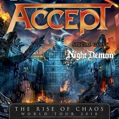 "ACCEPT ""The Rise Of Chaos""-World Tour 2018 mit NIGHT DEMON"