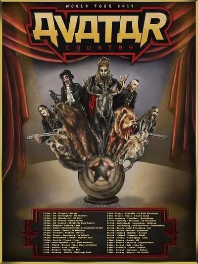 """AVATAR: """"Avatar Country""""-Tour durch Europa"""