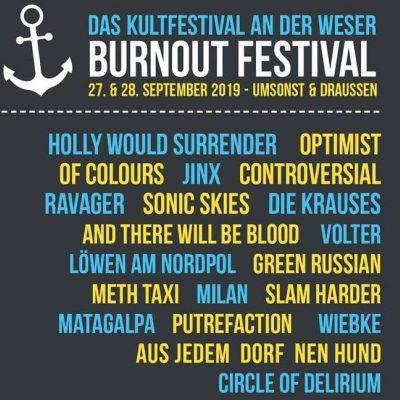 BURNOUT FESTIVAL: Lineup komplett