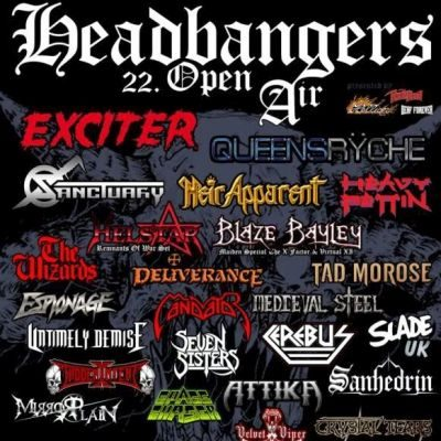 HEADBANGERS OPEN AIR 2019: mit SANHEDRIN und SPACE CHASER