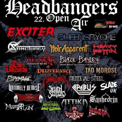 HEADBANGERS OPEN AIR 2019: mit BÜTCHER, CRYSTAL TEARS sagen ab