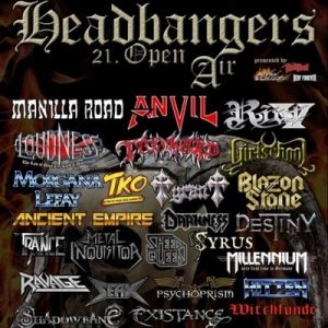 HEADBANGERS OPEN AIR: Running Order,  mit SORCERER