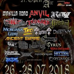 HEADBANGERS OPEN AIR: Billing für 2018 komplett