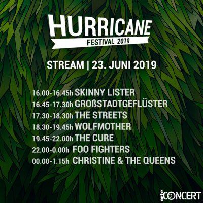 HURRICANE FESTIVAL 2019: Live-Stream ab 16 Uhr auf ARTE Concerts mit FOO FIGHTERS, THE CURE und weiteren