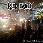 ICED EARTH, WARBRINGER und ELM STREET am 12. Februar 2014 in der Essigfabrik, Köln