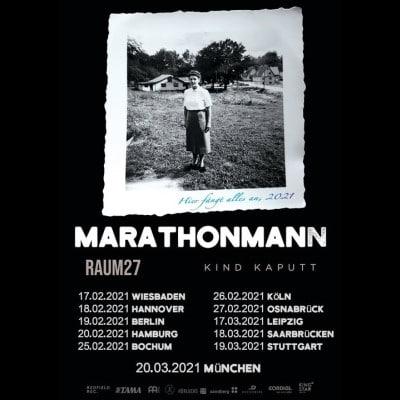 """MARATHONMANN: kommen 2021 auf """"Hier fängt alles an""""-Tour"""