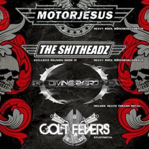MOTORJESUS, DIVINE:ZERO, THE SHITHEADZ und COLT FEVERS am 18. Dezember 2009 im Pitch Black, Niederkrüchten