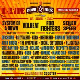 NOVA ROCK 2020 Festival: SYSTEM OF A DOWN, VOLBEAT und FOO FIGHTERS als Headliner