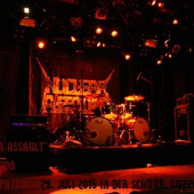 NUCLEAR ASSAULT, CONTORSION, PETROL PATROL: Luzern, Schüür, 29. Juli 2015