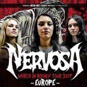 "NERVOSA: ""World in Agony""-Tour 2017"