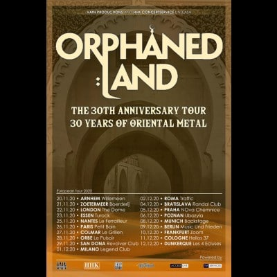 ORPHANED LAND:  Jubiläumstour im Winter 2020