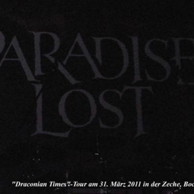 PARADISE LOST und GHOST am 31.03.2011 in der Zeche, Bochum