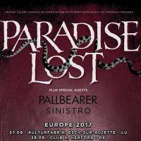 PARADISE LOST, PALLBEARER, SINISTRO