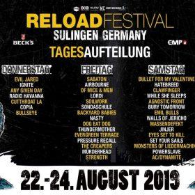 RELOAD FESTIVAL: Die Tagesaufteilung für das RELOAD 2019 steht