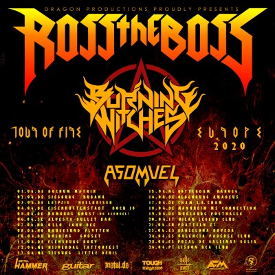 "ROSS THE BOSS: ""Tour Of Fire""-Europatour 2020"