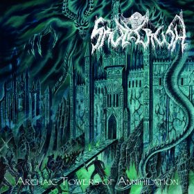 "SKULLCRUSH: erster Track vom neuen Death Metal Album ""Archaic Towers of Annihilation"""