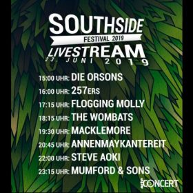 SOUTHSIDE FESTIVAL 2019: Live-Stream ab 15 Uhr auf ARTE Concerts mit FLOGGING MOLLY, MUMFORD & SONS & mehr