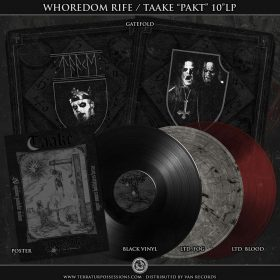 "TAAKE / WHOREDOM RIFE: neue Black Metal Split ""Pakt"""