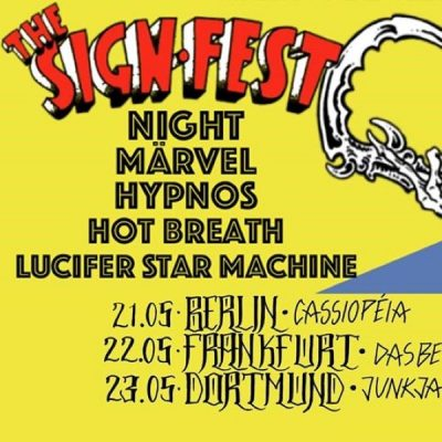 THE SIGN FEST: Label-Tour mit NIGHT, MÄRVEL, HYPNOS und mehr