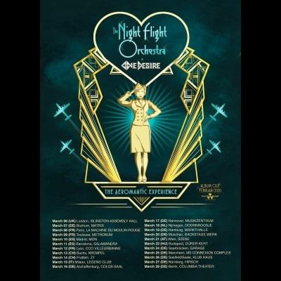 "THE NIGHT FLIGHT ORCHESTRA: ""The Aeromantic Experience""-Tour im März 2020"