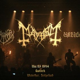 MAYHEM, MERRIMACK, UNLIGHT: Gaswerk Winterthur, 23. Mai 2014