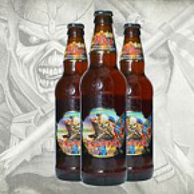 "IRON MAIDEN: ""The Trooper"" – Bier mit Bandlogo"