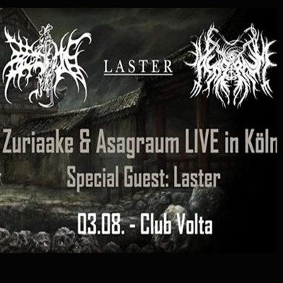 ZURIAAKE, ASAGRAUM & LASTER, live am 3.8.2019 im Club Volta, Köln