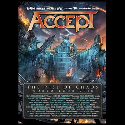 """ACCEPT: """"The Rise Of Chaos"""" World Tour"""