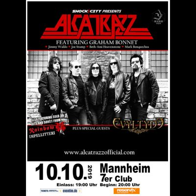 ALCATRAZZ ( feat. GRAHAM BONNET): Konzert in Mannheim