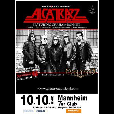 ALCATRAZZ ( feat. GRAHAM BONNET): Konzert in Mannheim