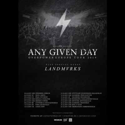 ANY GIVEN DAY: Europatour mit LANDMVRKS im Dezember
