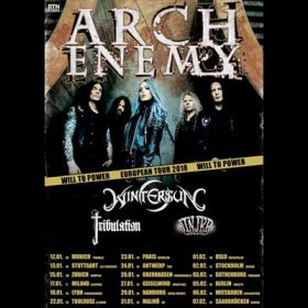 "ARCH ENEMY: ""Will To Power""-Tour 2018 – Konzerttermine in Deutschland"