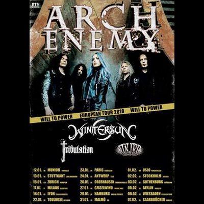 """ARCH ENEMY: """"Will To Power""""-Tour 2018 – Konzerttermine in Deutschland"""