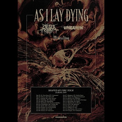 "AS I LAY DYING: neuer Song ""Redefined"" & ""Shaped By Fire""-Tour"