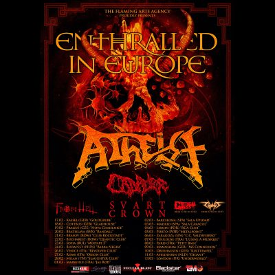 "ATHEIST: ""Entralled in Europe Tour"" mit CADAVER, SVART CROWN und FROM HELL in 2021"