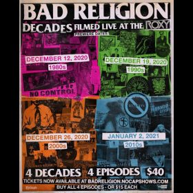 BAD RELIGION: Streaming-Events am 12., 19., 26. Dezember & 2. Januar