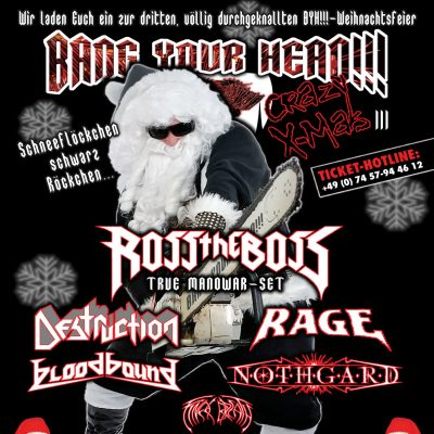 BANG YOUR HEAD CRAZY X-MAS 2019: mit ROSS THE BOSS & DESTRUCTION