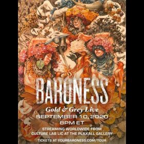 "BARONESS: ""Gold & Grey""-Konzert im Livestream am 11. September"