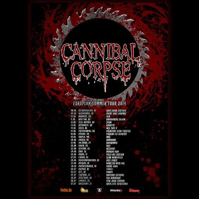 "CANNIBAL CORPSE: Konzerte im Sommer 2019 & Video zu ""Red Before Black"""