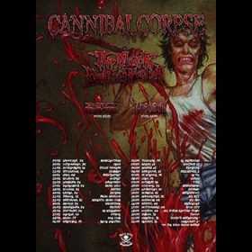 cannibal corpse tour 2017 The Black Dahlia Murder No Return