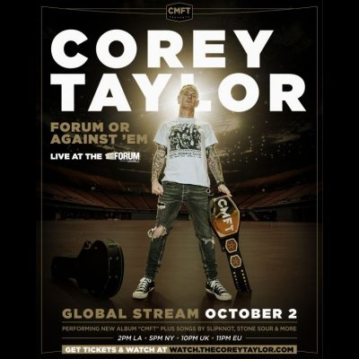 "COREY TAYLOR: ""Forum Or Against 'Em""-Live-Stream am 2. Oktober"