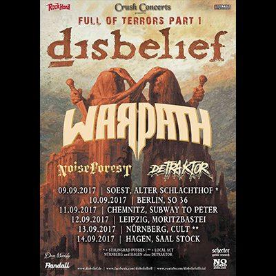 Full Of Terrors Tour: DISBELIEF, WARPATH, NOISE FOREST, DETRAKTOR
