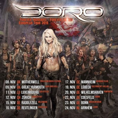 """DORO: Konzerte im November 2019 & neue Single """"Freunde fürs Leben"""""""