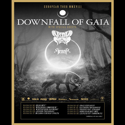 DOWNFALL OF GAIA: ATROPHY TOUR mit HIGH FIGHTER & HEXER