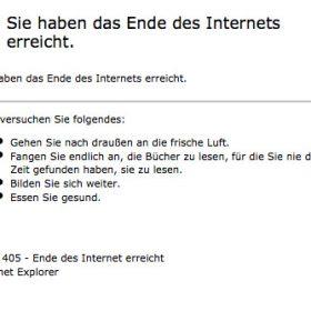 Das Ende des Internet ist erreicht