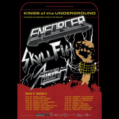 ENFORCER: Tour mit SKULL FIST & AMBUSH erst 2021