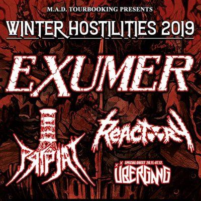 EXUMER: Tour im Dezember 2019 mit PRIPJAT und REACTORY